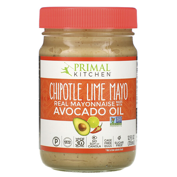 Primal Kitchen, Mayonnaise with Avocado Oil, Chipotle Lime, 12 fl oz (355 ml)