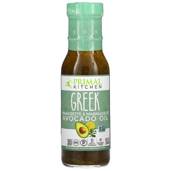 Greek Vinaigrette & Marinade Made with Avocado Oil, 8 fl oz (236 ml)