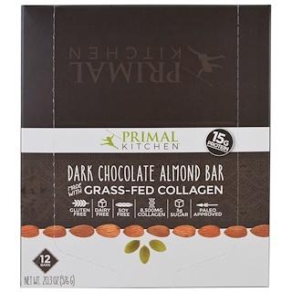 Primal Kitchen, ダークチョコレートアーモンド、牧草飼育コラーゲン、12本、各1.7オンス (48 g)