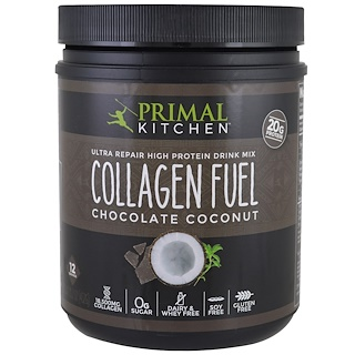 Primal Kitchen, Ultra Repair High Protein Drink Mix, Collagen Fuel, Chocolate Coconut, 15.2 oz (432 g)