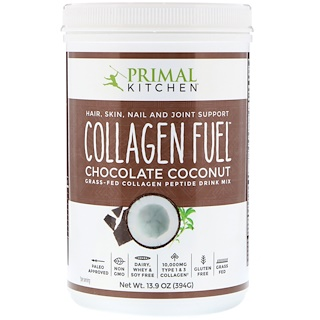 Primal Kitchen, Grass-Fed Collagen Peptide Drink Mix, Collagen Fuel, Chocolate Coconut, 13.9 oz (394 g)