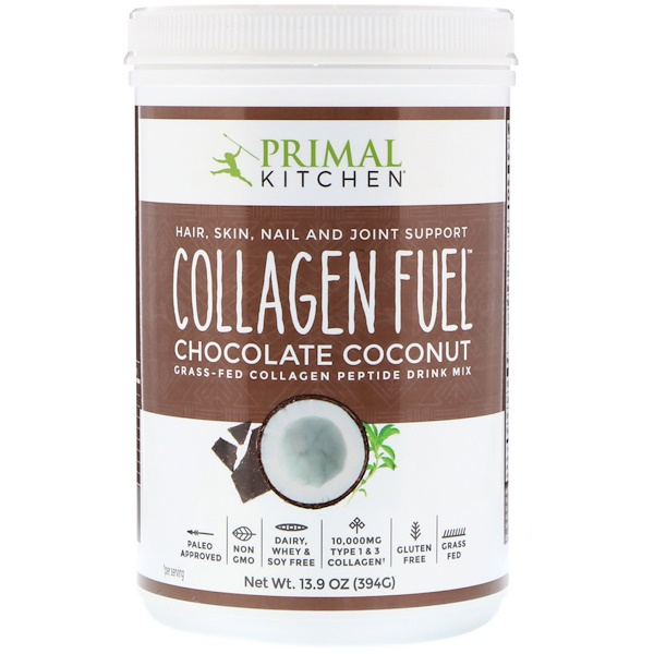 Collagen Fuel, Grass-Fed Collagen Peptide Drink Mix, Chocolate Coconut, 13.9 oz (394 g)