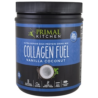 Primal Kitchen, Ultra Repair High Protein Drink Mix, Collagen Fuel, Vanilla Coconut, 14 oz (396 g)