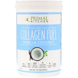 Primal Kitchen, Collagen Fuel, Grass-Fed Collagen Peptide Drink Mix, Vanilla Coconut, 13.1 oz (370 g)