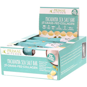 Примал Китчэн, Grass-Fed Collagen Bar, Macadamia Sea Salt, 12 Bars, 20.7 oz (588 g) отзывы