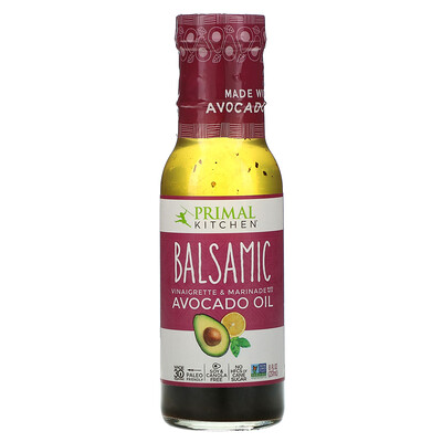 Primal Kitchen Balsamic Vinaigrette & Marinade Made with Avocado Oil, 8 fl oz (237 ml)