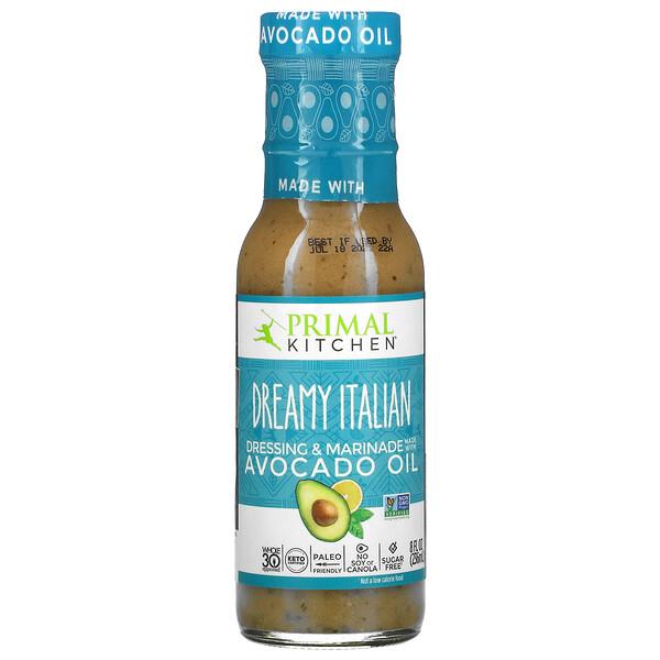 Dreamy Italian Dressing & Marinade Made with Avocado Oil, 8 fl oz (236 ml)