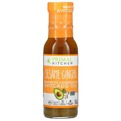 Primal Kitchen Sesame Ginger Vinaigrette & Marinade Made With Avocado Oil, 8 fl oz (236 ml)