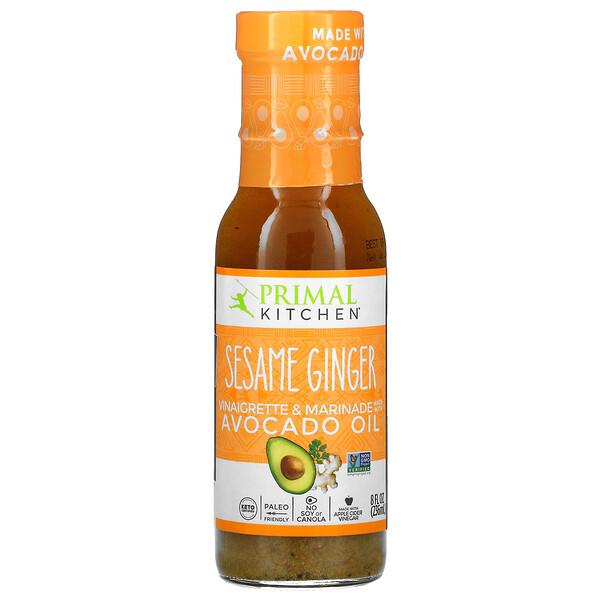 Primal Kitchen, Sesame Ginger Vinaigrette & Marinade Made with Avocado Oil, 8 fl oz (236 ml)