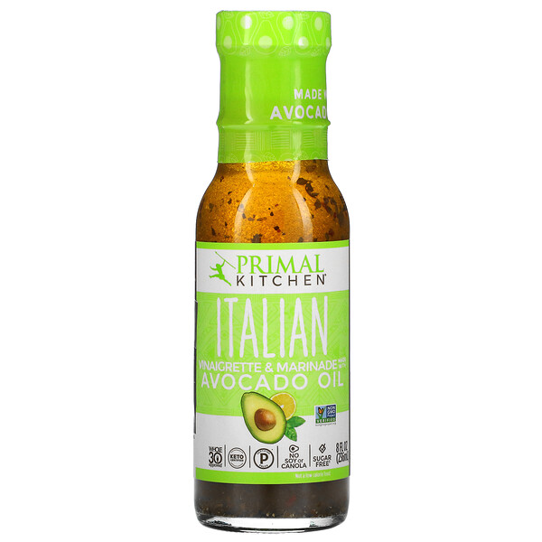 Italian Vinaigrette & Marinade Made With Avocado Oil, 8 fl oz (236 ml)
