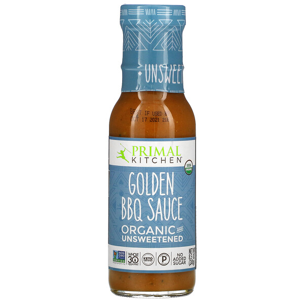 Organic Golden BBQ Sauce, Unsweetened, 8.5 oz (241 g)