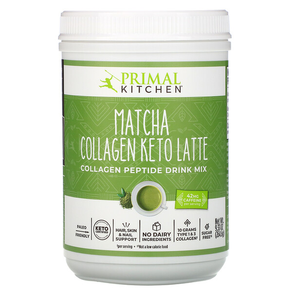 Collagen Keto Latte, Matcha, 9.33 oz (264.6 g)