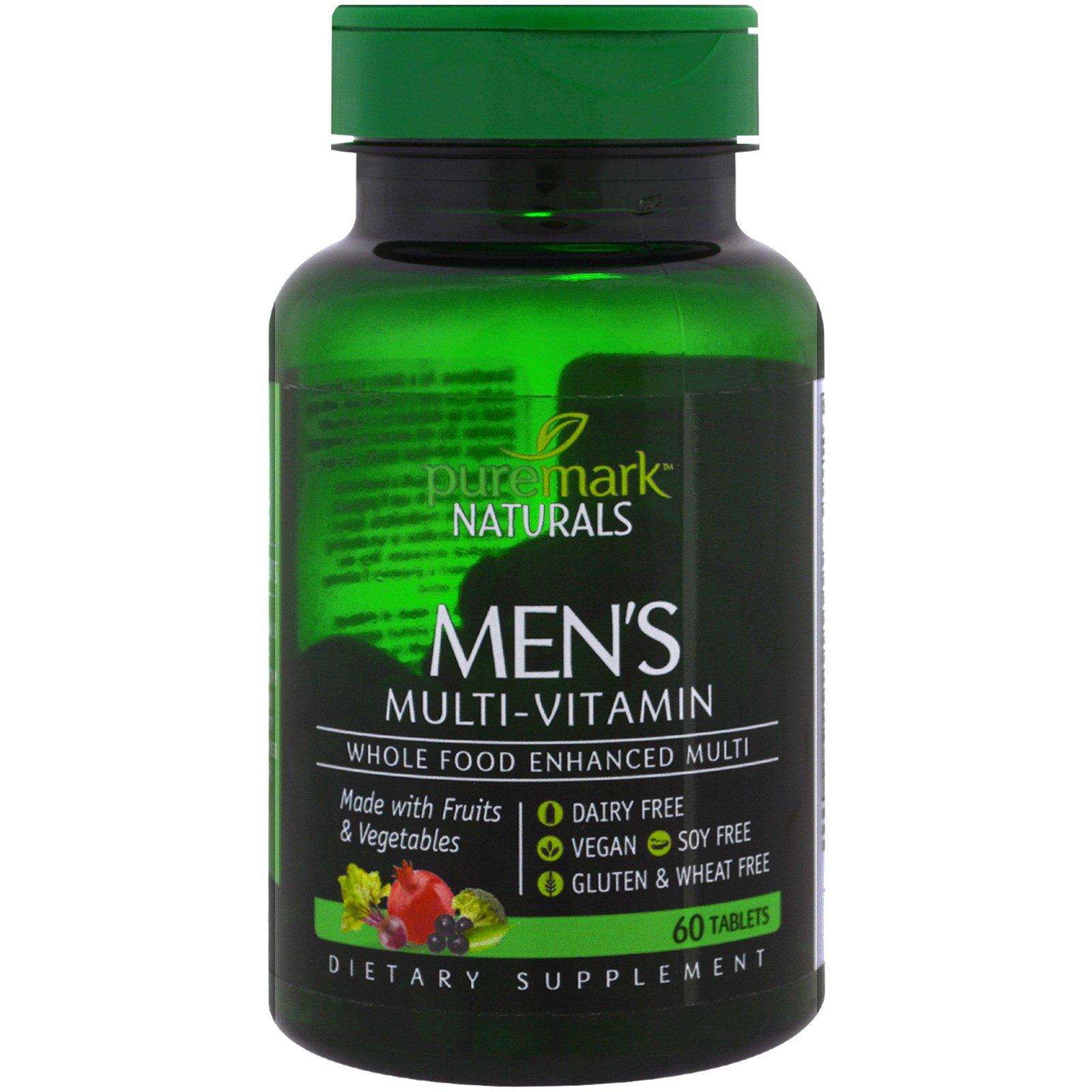 PureMark Naturals, Мужские мультивитамины, 60 таблеток