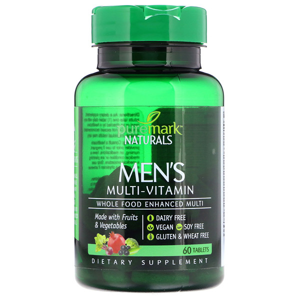 PureMark Naturals, Men's Multi-Vitamin, 60 Tablets