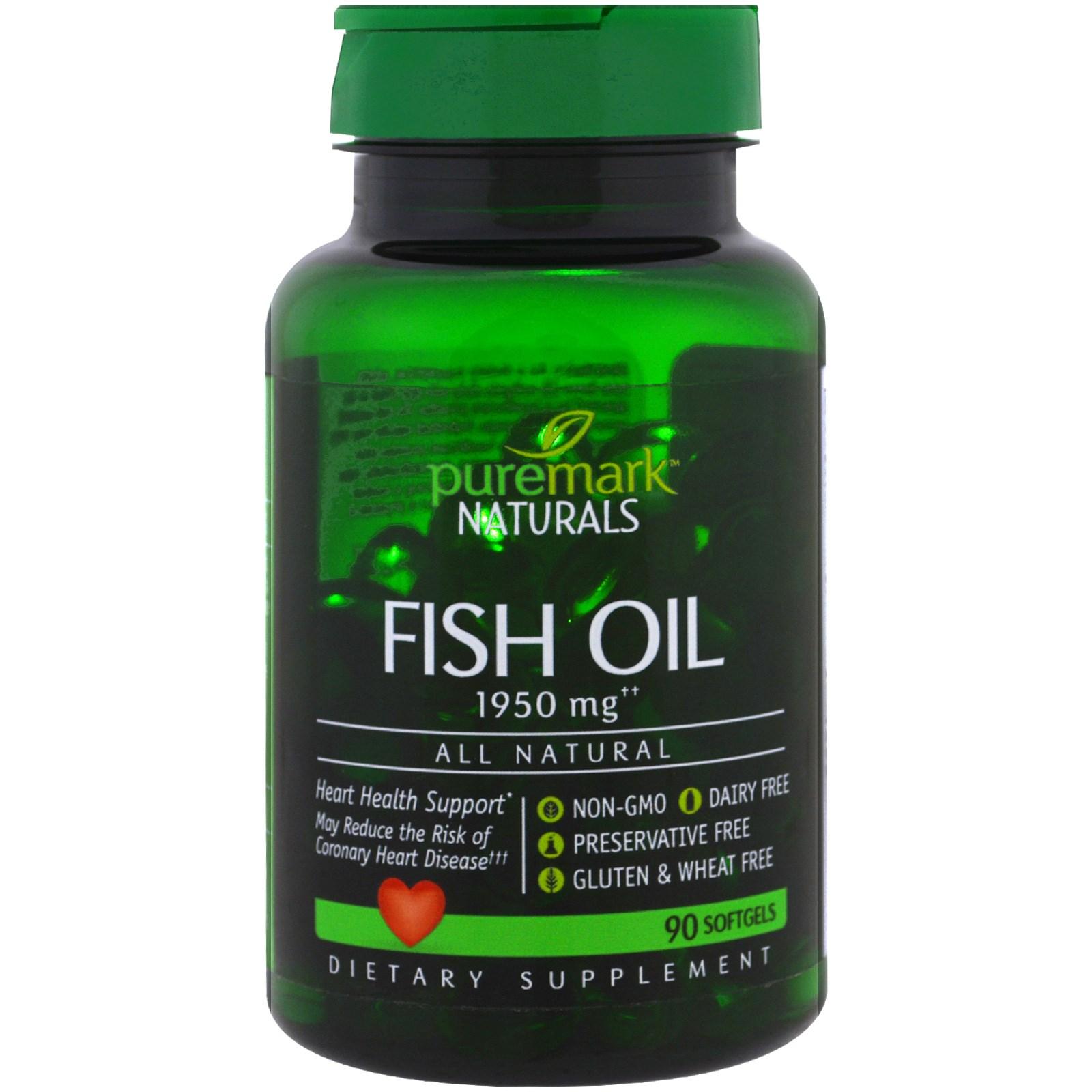 PureMark Naturals, Рыбий жир, 1950 мг, 90 капсул