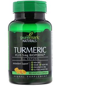 ПуреМарк Натуралс, Turmeric, 90 Vegetarian Capsules отзывы покупателей
