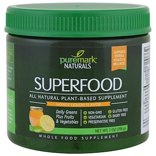 PureMark Naturals, Superfood, Honey Lemon Flavor, 7 oz (198 g)