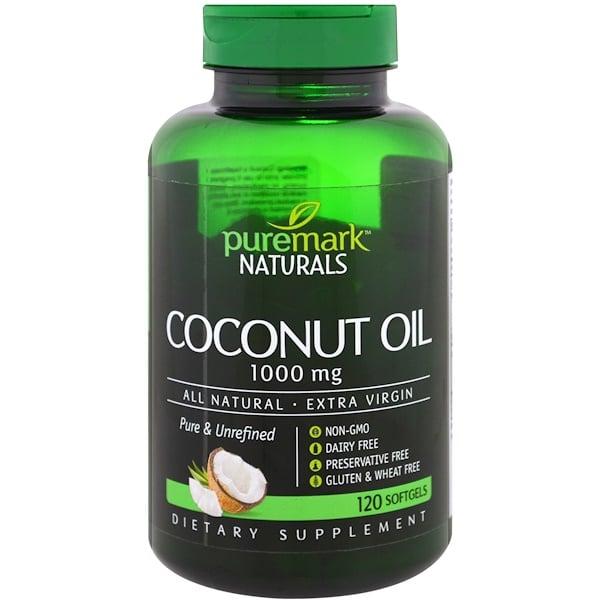 PureMark Naturals, Кокосовое масло, 1000 мг, 120 мягких капсул (Discontinued Item)