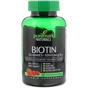 ПуреМарк Натуралс, Biotin, 5,000 mcg, 100 Vegetarian Gummies отзывы