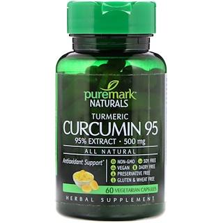 PureMark Naturals, Curcumin 95, 500 mg, 60 Vegetarian Capsules