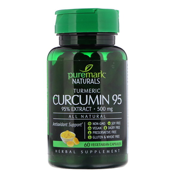 PureMark Naturals, Curcumin 95, 500 mg, 60 Vegetarian Capsules (Discontinued Item)