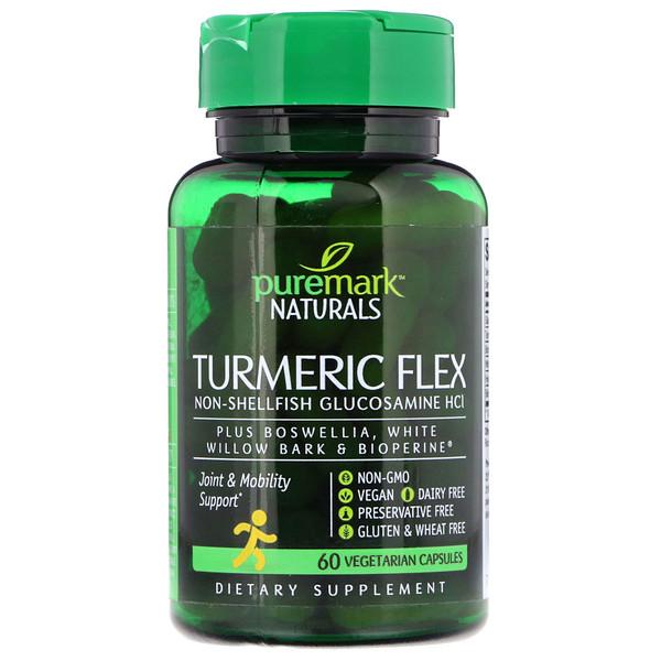 PureMark Naturals, Turmeric Flex, 60 Cápsulas Vegetarianas (Discontinued Item)
