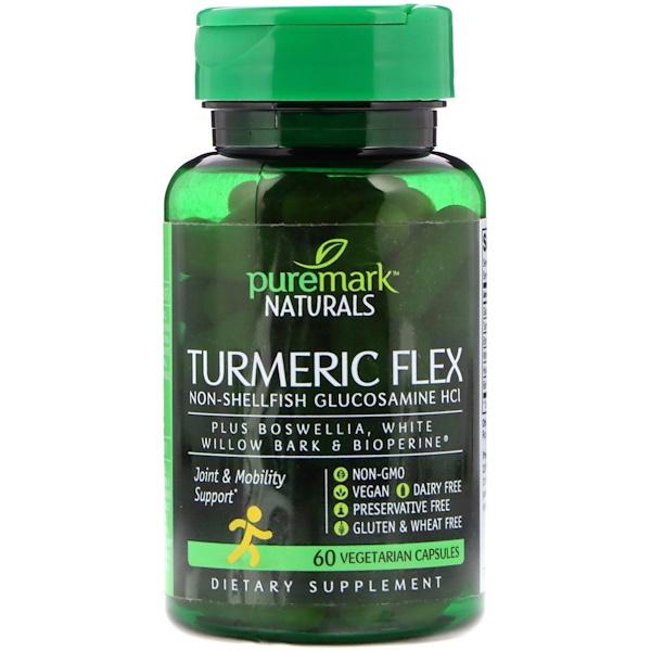PureMark Naturals, 薑黃膠囊,60 粒素食膠囊