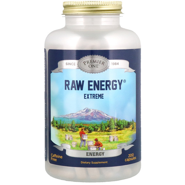 Premier One, Raw Energy Extreme, 200 Capsules
