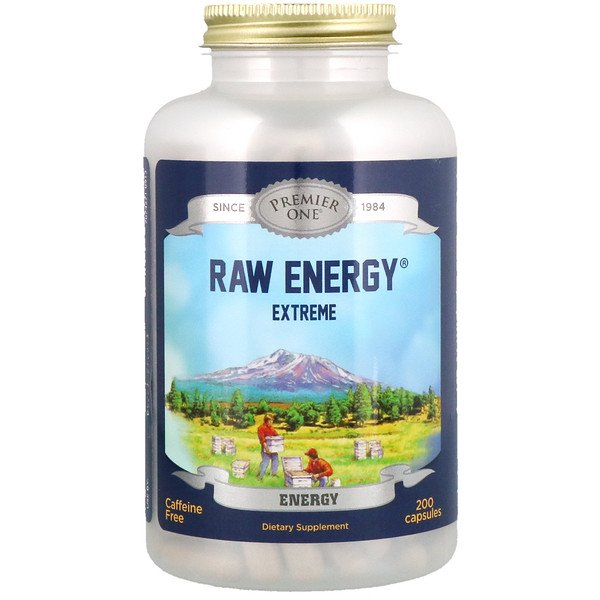 Premier One, Raw Energy, экстрим, 200 капсул (Discontinued Item)