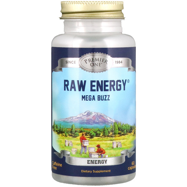 Premier One, Raw Energy Mega Buzz, 60 Capsules (Discontinued Item)