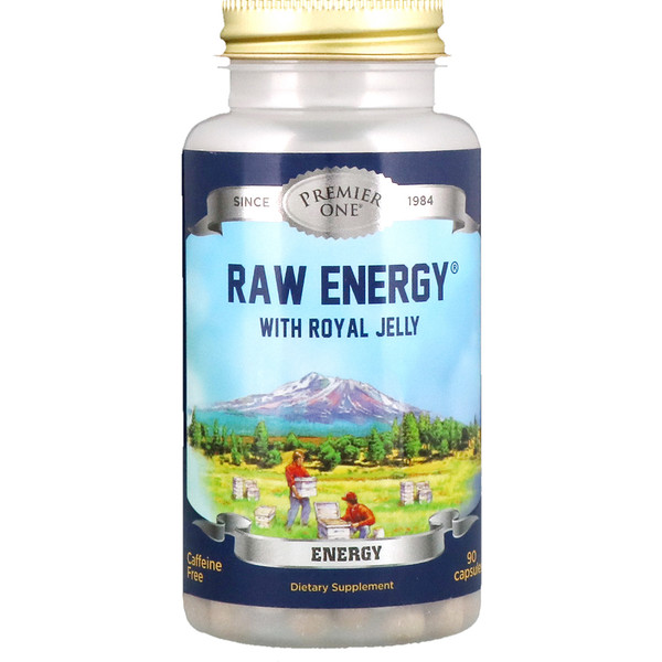 Premier One, Raw Energy with Royal Jelly, 90 Capsules (Discontinued Item)