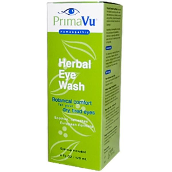 PrimaVu, Herbal Eye Wash, 4 fl oz (120 ml) (Discontinued Item)
