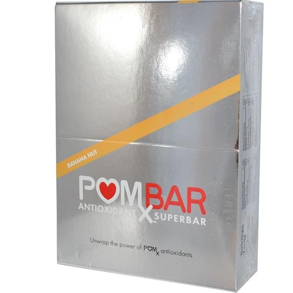 Pom Wonderful, PomX Bars, Antioxidant Superbar, Banana Nut, 12 Bars, 1.76 oz (50 g) Each  (Discontinued Item)