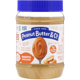 Peanut Butter & Co., Smooth Operator, mantequilla de maní para untar, 16 oz (454 g)