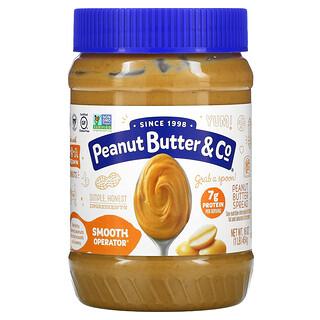 Peanut Butter & Co., Smooth Operator، زبدة الفول السوداني للدهن، 16 أوقية (454 غرام)