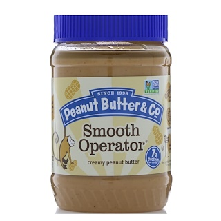Peanut Butter & Co., Smooth Operator, Mantequilla de maní natural, 16 oz (454 g)