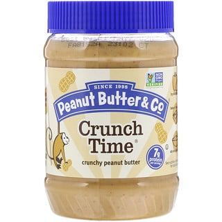 Peanut Butter & Co., كرنش تايم، زبدة فول سوداني مقرمشة، 16 أونصة (454 جم)