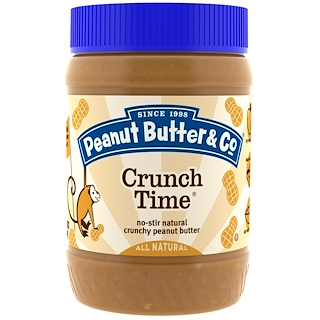 Peanut Butter & Co., Crunch Time, Mantequilla de maní crujiente, 16 oz (454 g)
