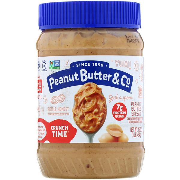 Peanut Butter & Co., Crunch Time, Peanut Butter Spread, 16 oz (454 g)