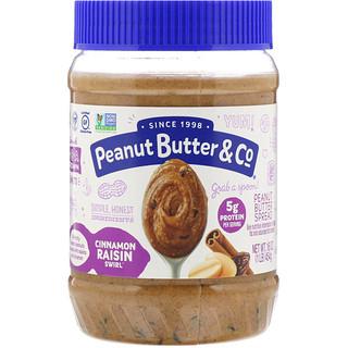 Peanut Butter & Co., Cinnamon Raisin Swirl, Peanut Butter Blended with Cinnamon and Raisins, 16 oz (454 g)