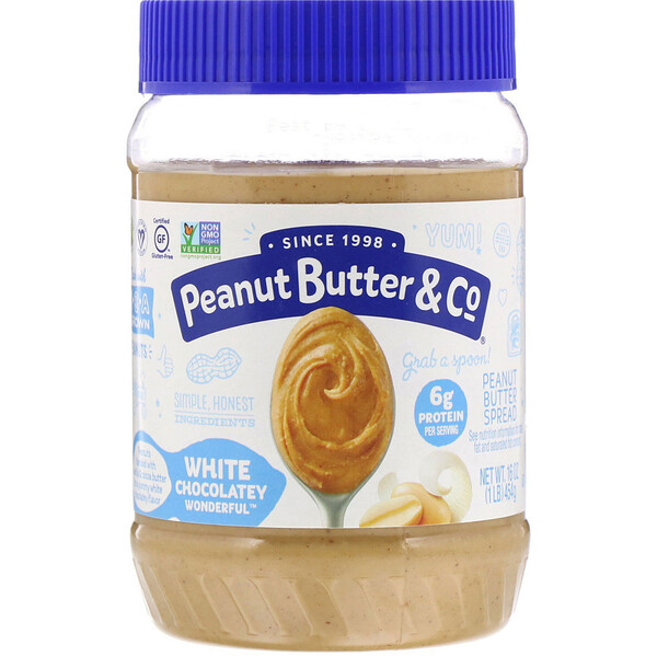 Peanut Butter & Co., Peanut Butter Spread, White Chocolate Wonderful, 16 oz (454 g)