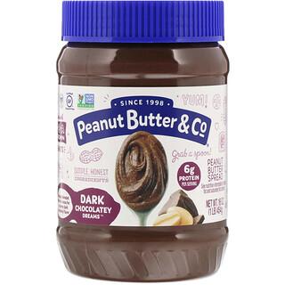 Peanut Butter & Co., 花生醬與濃黑巧克力混合,Dark Chocolate Dreams,16盎司(454克)