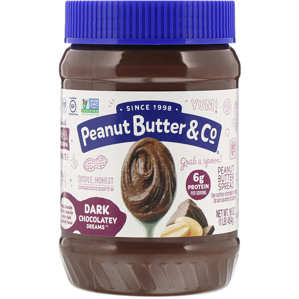 Peanut Butter & Co., Mantequilla de maní con chocolate amargo, chocolate amargo Dreams, 16 oz (454 g)