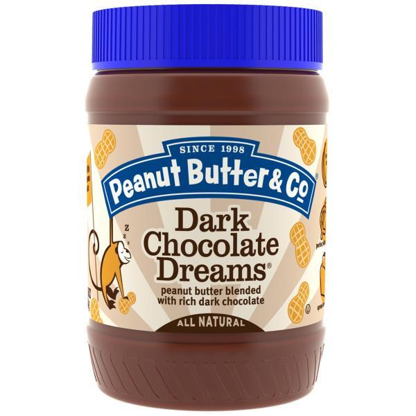 Peanut Butter & Co., زبدة فول سوداني ممزوجة مع الشوكولاتة الداكنة، أحلام الشوكولاتة الداكنة، 16 أونصة (454 غ)