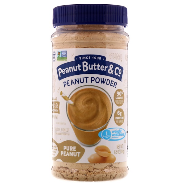Peanut Butter & Co., Mighty Nut, Powdered Peanut Butter, Pure Peanut, 6.5 oz (184 g) (Discontinued Item)