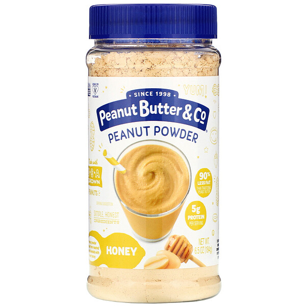 Peanut Powder, Honey, 6.5 oz (184 g)