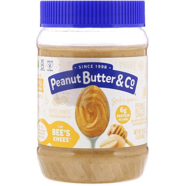 Peanut Butter Spread, The Bee's Knees, 16 oz (454 g)