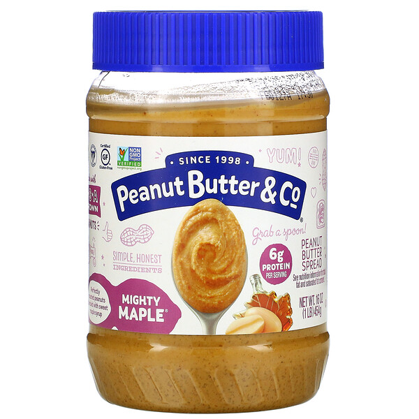 Peanut Butter Spread, Mighty Maple, 16 oz (454 g)