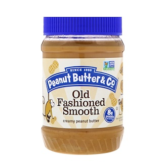 Peanut Butter & Co., Old Fashioned Smooth, Creamy Peanut Butter, 16 oz (454 g)