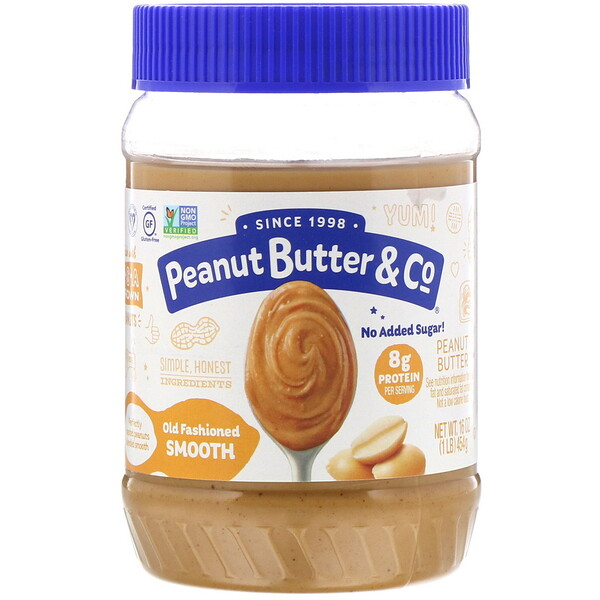 Peanut Butter & Co., Old Fashioned Smooth, Mantequilla de maní, 454 g (16 oz)